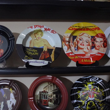 My Favorite Ashtrays from my Collection.....Marilyn Monroe....Never used before