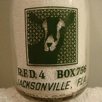Busch's Quart Goat Milk ...Jacksonville, Fla. - Bottles