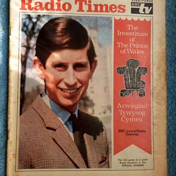 1969-bbc-radio times magazine-radio/TV programmes-investiture. - Paper