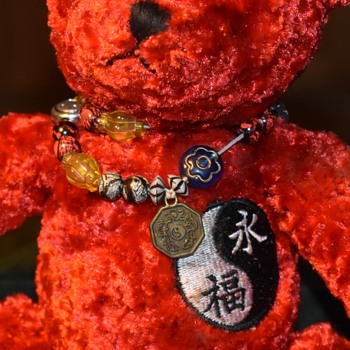 Foo Forever Bear with Ying/Yang Bracelet by Fiesta - Dolls