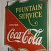 1936 double sided coke sign