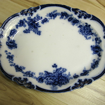 Flow Blue Plate found at Flea Market - China and Dinnerware