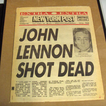 1st edition-New York Post-Dec. 9, 1980... - Music Memorabilia