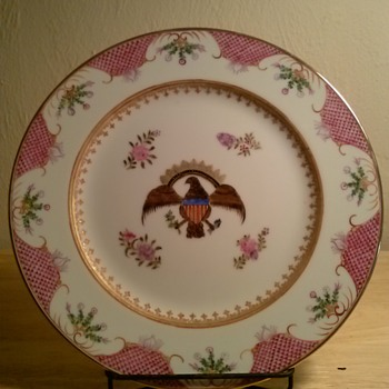 Chinese-Japanese Americana Porcelain Plates - China and Dinnerware