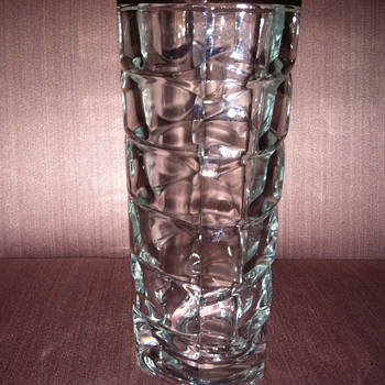 Clear cut glass vase - Glassware