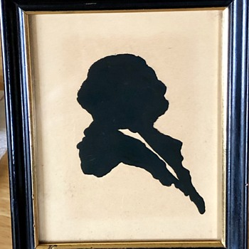 Silhouette find from a thrift store - Folk Art