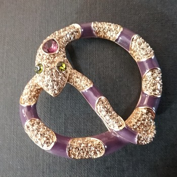 Carolee snake brooch  - Costume Jewelry