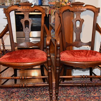 Pair Of Eastlake Style Chairs