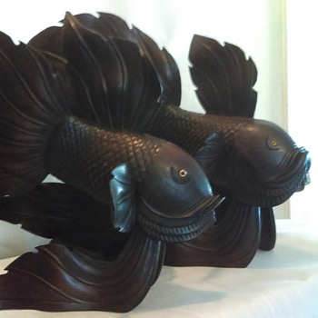 WOOD CARVED FISH - Fine Art