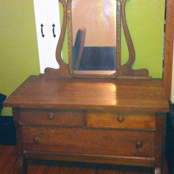 Old Dresser with Mirror - Furniture