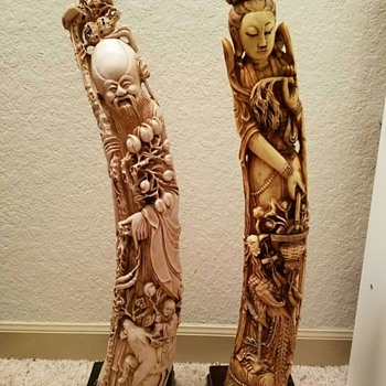 Pair of Chinese Carvings - Asian