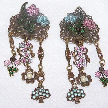 Long Czech? Earrings - Really Unique - Costume Jewelry