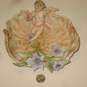 Porcelain Bowl with a Child - Figurines
