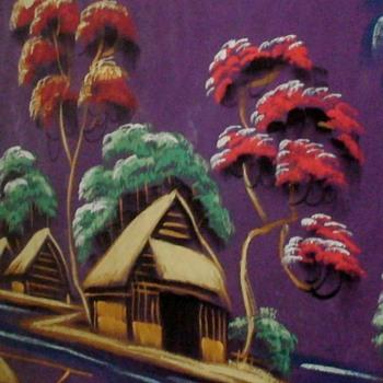 Vietnamese Signed Silk Painting 1960s/1970 - Fine Art