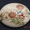 Ceramic Porcelein Asian Pin Brooches