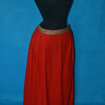 Exceptional 1800's Cherry Red Wool Petticoat slip!