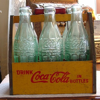 CocaCola...Six Pkg. Carrier...With Bottles - Coca-Cola