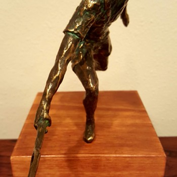Curtis Jere Bronze Tennis Player Sculpture - Fine Art