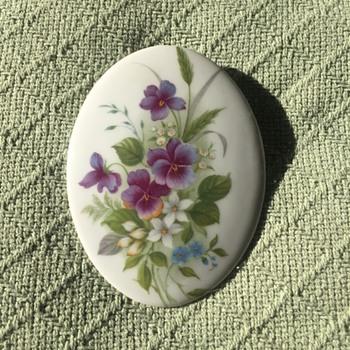 Limoges Violet Wall Medallion