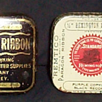 Typewriter Ribbon Tins