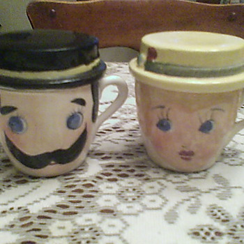 Mom and Pop coffee cup / ashtray combos - Kitchen