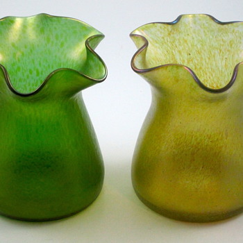 Loetz - Another Shape Study, or Mixed Pairs - Art Glass