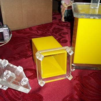 Yellow Acrylic Retro Canisters  - Kitchen