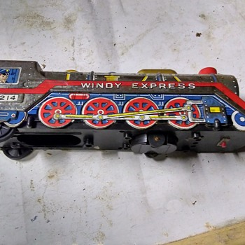 ToyTown Silver Windy Express Battery Operated Tin Train - Model Trains