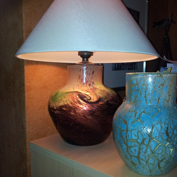 Another Monart Vase Lamp From My Collection - Art Glass