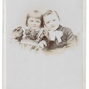 Cabinet Card, Brother & Sister, J.P.Ball & Son, Helena, Montana, ca 1885-1890s - Photographs