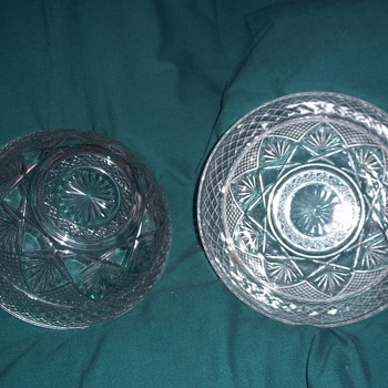 2 identical bowls but different numbers on the bottom. Crystal or glass?? - Glassware