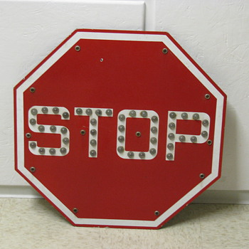 Red Griswold Stop Sign with Marbles - Signs