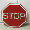 Red Griswold Stop Sign with Marbles