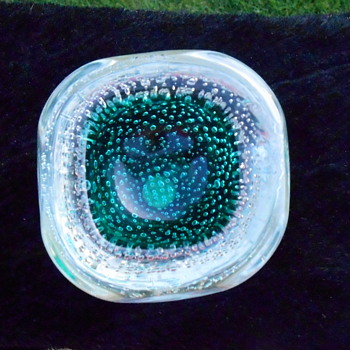 Murano Dish with Controlled Bubbles
