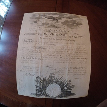 James Madison commission document