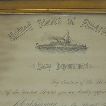 1904 midshipman promotion - Military and Wartime