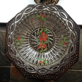My favorite Glass serving bowl and 6 side dishes