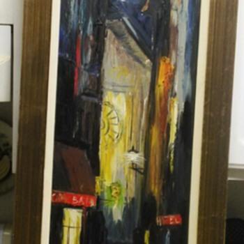 OIL PAINTING SIGNED SANTOS - Fine Art