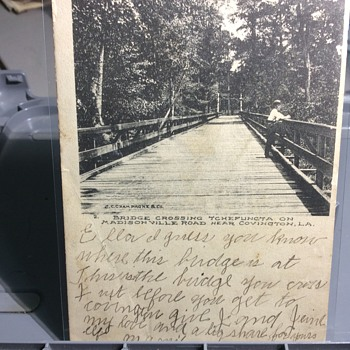 No standing on bridge  - Postcards