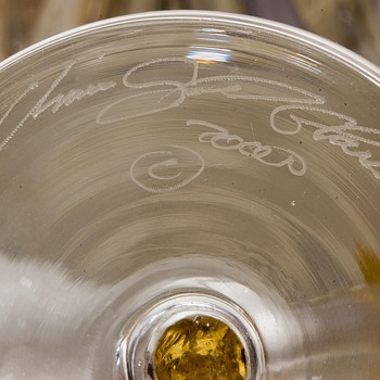 Union Street Glass Champaign Flute - Art Glass