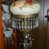 BRASS CHERUB DOUBLE BURNER OIL LAMP