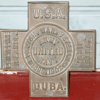 Bronze Foundry Mold for Spanish American War Veteran Grave Marker - Military and Wartime