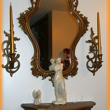 SYROCO - Mirror Candle Shelf SET