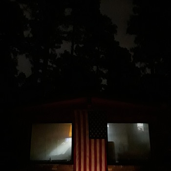 in Memoriam...flag and night sky - Military and Wartime