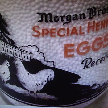 Morgan Bros. Creameries...Dorchester, Ma. (eggs received picture) - Bottles