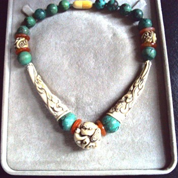Where is this ivory, turquoise and carnelian necklace from? - Fine Jewelry