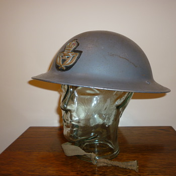 British WWII Royal Air Force Officers steel helmet.