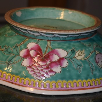 Large Nyonya Straits or Peranakan Fruit Bowl - Asian