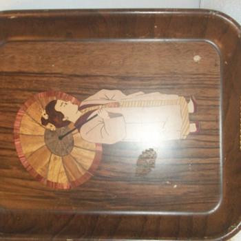 pre prohibition tray copy of oriental inlay
