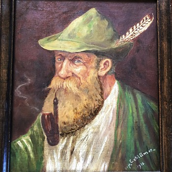 1916 Folk Art Signed Cap. C.V. Stiimer, A Favourite  - Folk Art
